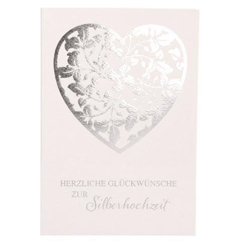 Glückwunschkarte Herzliche Glückwünsche zur Silberhochzeit (6 Stück)