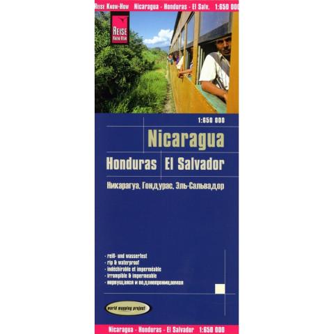 Nicaragua, Honduras, El Salvador 1 : 650 000