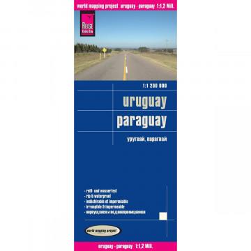 Reise Know-How Landkarte Uruguay, Paraguay 1 : 1.200 000