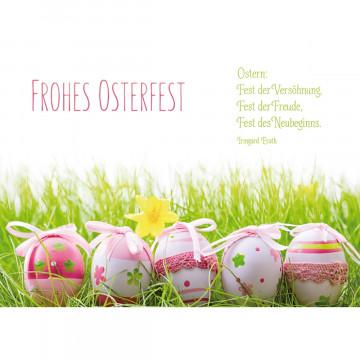 Glückwunschkarte Frohes Osterfest (6 Stück)