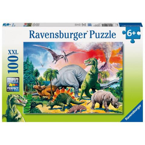 Unter Dinosauriern. Puzzle 100 Teile XXL