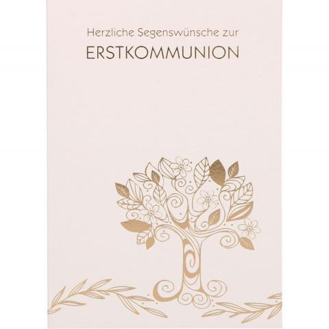 Glückwunschkarte Herzliche Segenswünsche zur Erstkommunion (6 Stück)