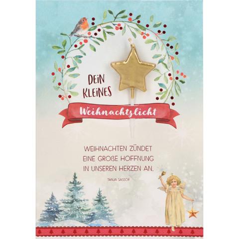 Glückwunschkarte - Dein kleines Weihnachtslicht (5 Stück)