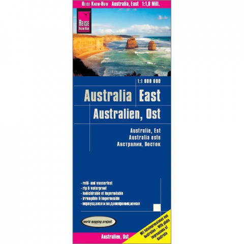 Reise Know-How Landkarte Australien, Ost / Australia, East (1:1.800.000)