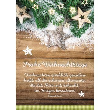 Postkarte Frohe Weihnachtstage (10 Stück)