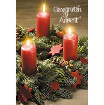 Glückwunschkarte Gesegneten Advent (6 Stück)