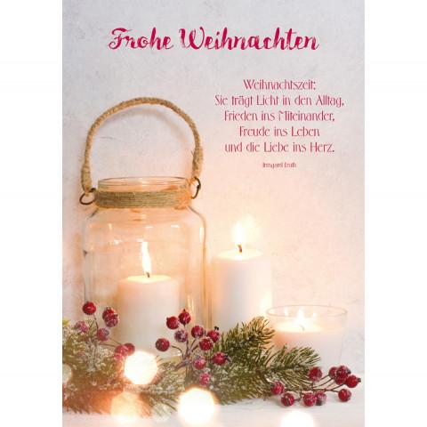 Glückwunschkarte - Frohe Weihnachten (6 Stück)