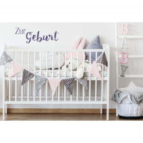 Glückwunschkarte - Zur Geburt (6 Stück)