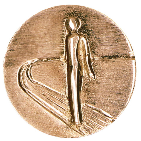 Plakette aus Bronze Auf dem Weg (1 Stück)