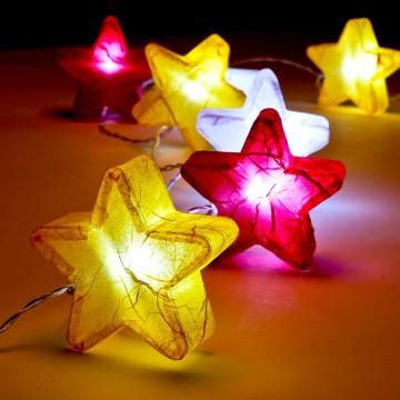 Lichterkette »Seidenpapier-Sterne«