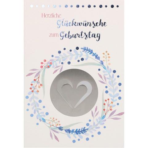 Glückwunschkarte - Herzliche Glückwünsche zum Geburtstag (5 Stück)