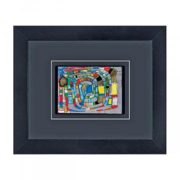 Gerahmte Kunstkarte »Hundertwasser«